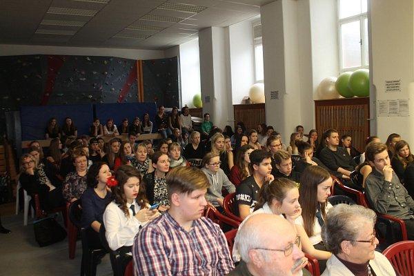 Den otevřených dveří na znojemském gymnáziu Dr. Karla Polesného.