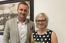Jana Sikorová se znojemským starostou Janem Groisem.