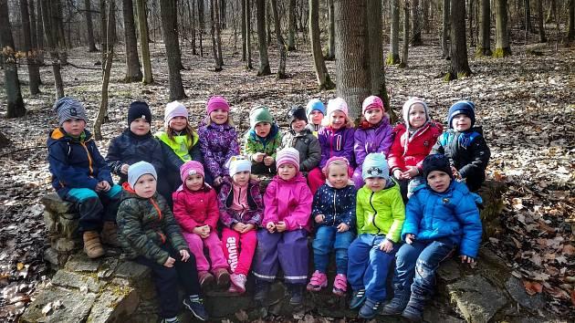 Děti z MŠ Vranov nad Dyjí.
