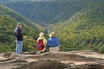 Sealsfieldův kámen v Národním parku Podyjí.