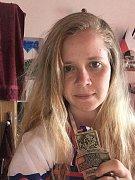Odchovankyně znojemského hokeje, hokejbalistka Petra Herzigová.