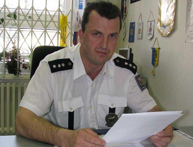Vedoucí Dopravního inspektorátu ve Znojmě Robert Pešek