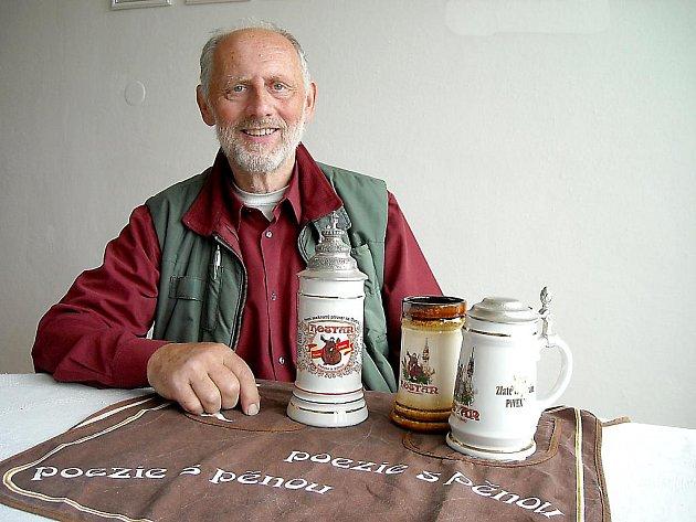 Emeritní sládek znojemského pivovaru Hostan Jiří Sysel.