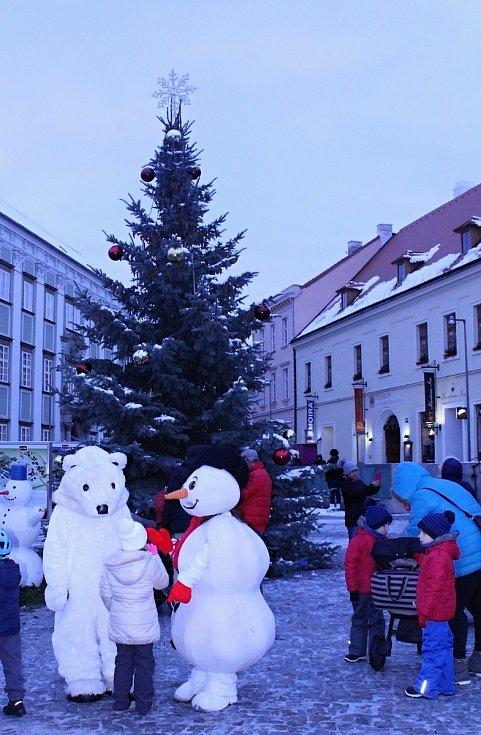 Kluziště na Horním náměstí.