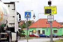 Úsekové měření v Kuchařovicích.