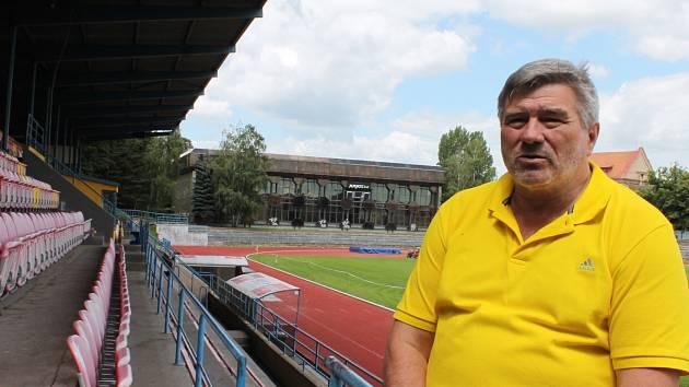 Předseda znojemského atletického oddílu Josef Šoba.