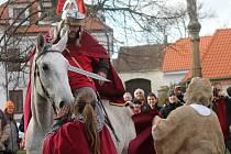 Svatomartinské slavnosti v Hnanicích pořádal Spolek přátel Hroznové kozy.