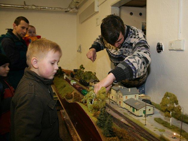 Modely železnice ve znojemském Domu dětí a mládeže