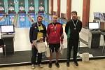 Šanovský kuželkář Jiří Konvalinka (první zleva) získal na turnaji v Brně stříbrnou medaili. Foto: TJ Sokol Šanov/Aleš Procházka
