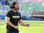 Trenér Radim Pařízek dovedl i letos svůj tým Znojmo Knights k postupu do vyšší soutěže, do druhé divize rakouské soutěže amerického fotbalu.