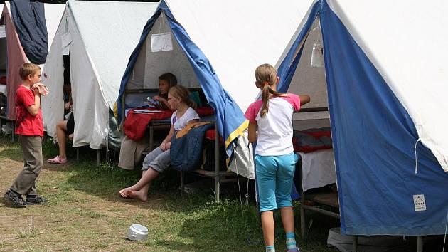 Tábor ve Zblovicích.
