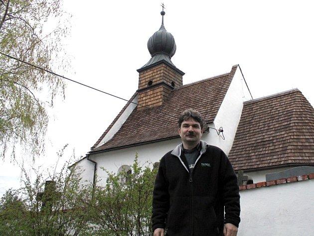 Místostarosta vesničky Přeskače na Znojemsku Jiří Němec.