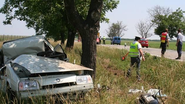 Tragická dopravní nehoda u Lechovic