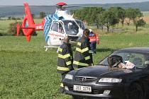 Vážná nehoda u Horních Dunajovic.