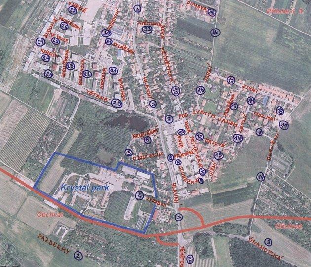 Nová pojmenování znojemských ulic
