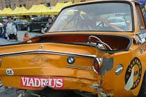 Nabouraný vůz Milana Galaše