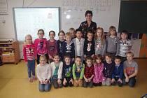 Děti 1.C ZŠ Klášterní s paní učitelkou Irenou Volánkovou.