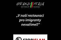 Za tento nápis dostal majitel restaurace v Hrušovanech nad Jevišovkou Tomáš Ševčík pokutu.