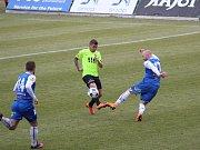 Rostislav Šamánek v černém dresu SC Znojmo FK.