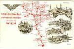 Celá síť Rakouské severozápadní dráhy po jejím dokončení v roce 1875. Od Vídně až po Děčín, od Prahy až po Trutnov či Kladsko.