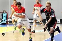 Florbalisté TJ Znojmo (bíločervení) zahájili přípravu na novou sezonu. Před jejím začátkem plánují odehrát spoustu přípravných utkání.
