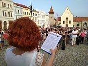 Další protest roti politice premiéra Andreje Babiše zažilo centrum Znojma.