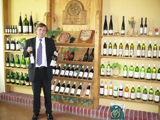 Ředitel vinařské firmy Znovín Znojmo Pavel Vajčner