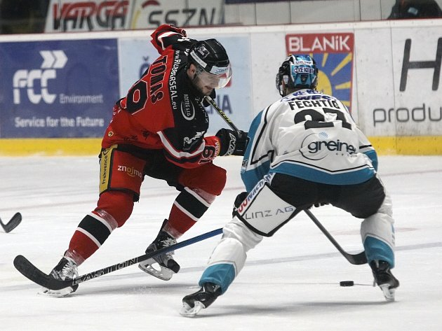 Hokejisté znojemských Orlů v semifinálové sérii play off mezinárodní soutěže EBEL bojují s rakouským Lincem.