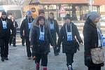 Zimní Otevřené sklepy v Novém Šaldorfu provázela již pošesté recesistická akce nazvaná Kopání písku pro Vídeň.