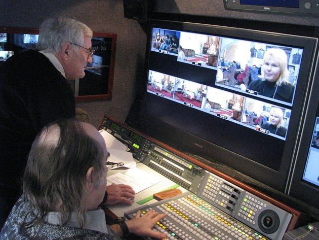 Televizní přímý přenos z kostela sv. Mikuláše