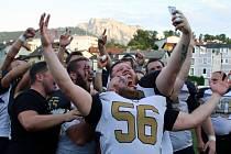 Jihomoravští Rytíři svými meči setnuli všechny soupeře, vyhráli všech devět zápasů a po triumfu 24:7 ve finále s Gmundem Rams slaví postup do třetí ligy.