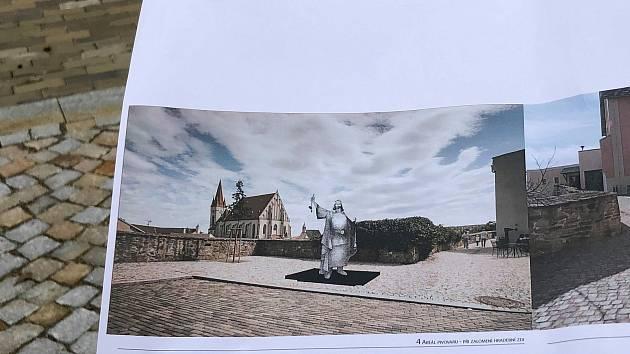 Prohlásil Znojmo za královské město, král Přemysl Otakar I. teď na něj bude shlížet v nadživotní velikosti.