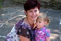 Pavla Janderková s dcerou.