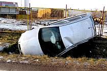 Havárie na silnici první třídy číslo 38 u Grešlového Mýta.