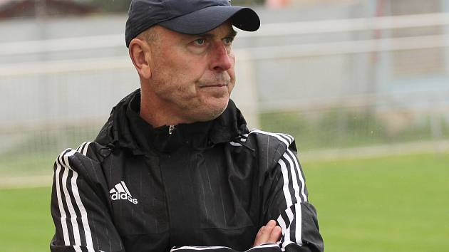 Trenér TJ Sokol Tasovice Miroslav Steinhauser.