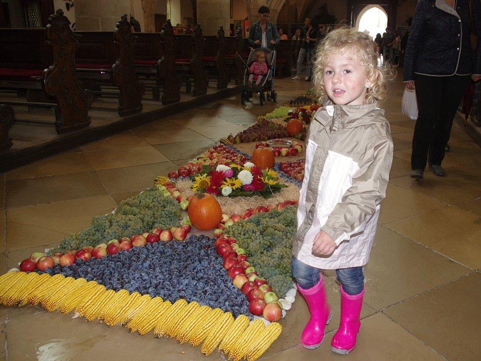 Tradiční Znojemské historické vinobrani ovládlo v pátek centrum města. Kostel sv. Mikuláše dostal opět dožínkovou výzdobu.