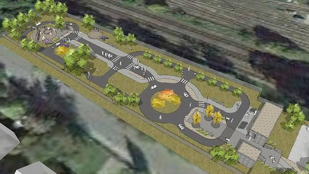 Vizualizace: Hodonice plánují dětské dopravní hřiště. Za sedm milionů korun