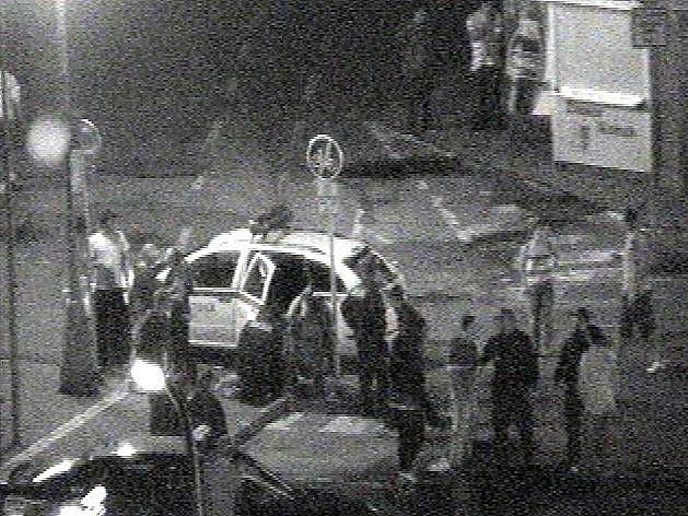 Kamerový záznam ze zásahu strážníků.