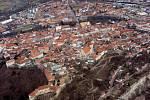 Letecký pohled na Znojmo. Ilustrační foto.
