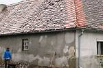 Kroupy v Krhovicích poničily domy i úrodu.