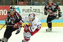Znojemští hokejisté v utkání se Salzburgem.