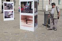 Sérii snímků dánského fotografa Mikaela Colville-Andersena z městského života dánské metropole Kodaně plného cyklistiky nabízí tento týden znojemské Komenského náměstí.