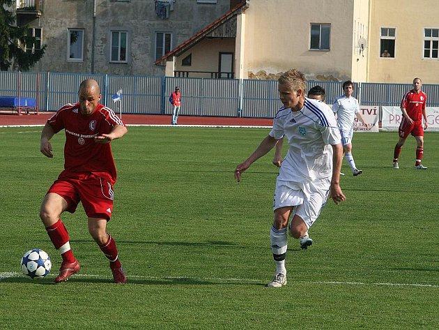 Znojemští fotbalisté porazili na domácím hřišti Třinec 2:0.