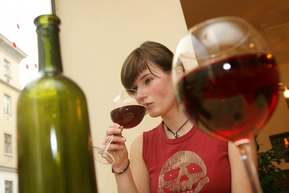 Červené víno. Ilustrační foto