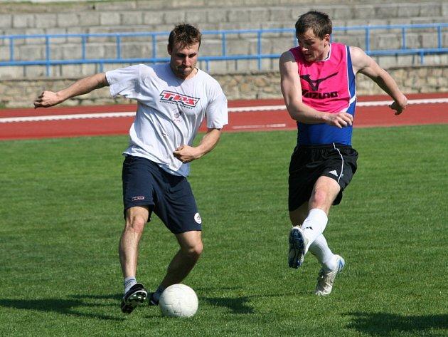 Richard Jareš (vlevo) při letní přípravě