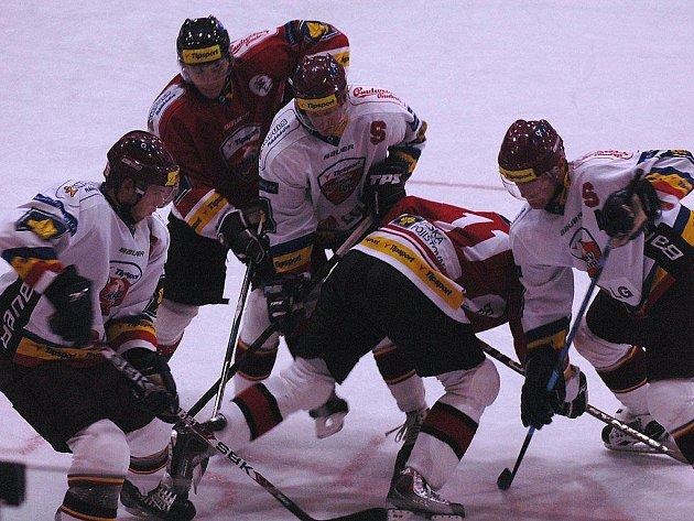 Znojemští hokejisté porazili Spartu v utkání Tipsport cupu 2:1. Zápas se hrál v Berouně