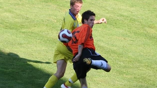 Znojemský záložník Matúš Lacko předváděl skvělé fotbalové momenty