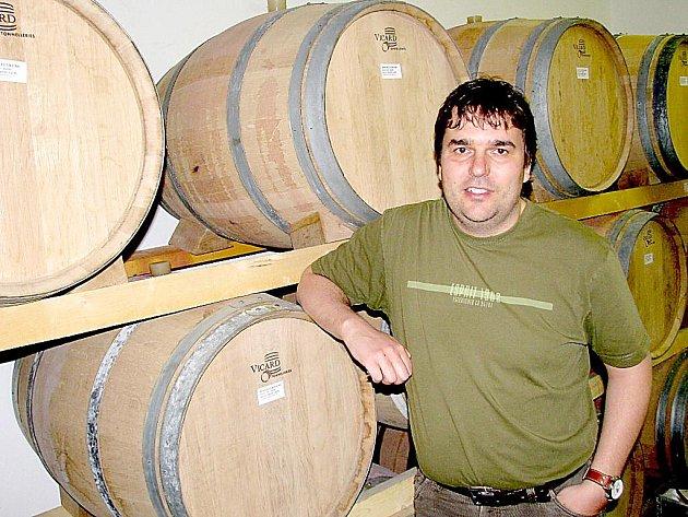 Bild vergrößern VINAŘ. Jednatel společnosti Vinařství Lahofer Stanislav Lancouch se teď bude starat o největší rozlohu vinic na Znojemsku.