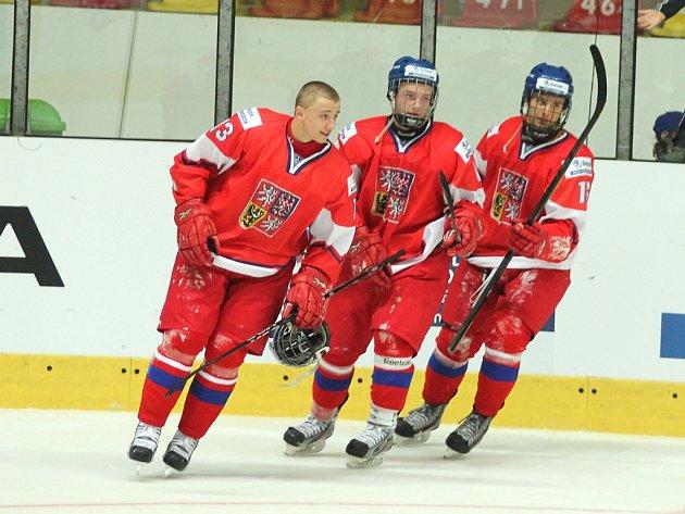 Česká hokejová reprezentace zdolala Dánsko