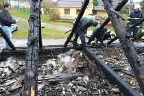 Požár rodinného domu v Běhařovicích.